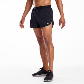 "saucony Split Second 2,5"" Shorts Herren black"